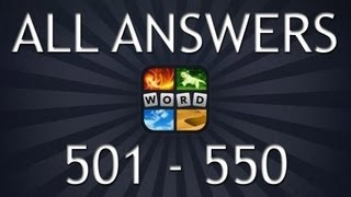 4 pics 1 word all answers part 12 501 550
