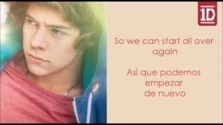 Repeat youtube video Over Again - One Direction (Letra en ingles y español)