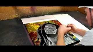 Bob Marley 4 Canvas Multilayer Stencil