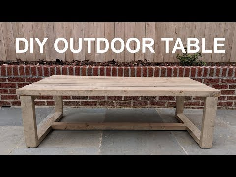 DIY Modern Outdoor Coffee Table | NATHAN BUILDS