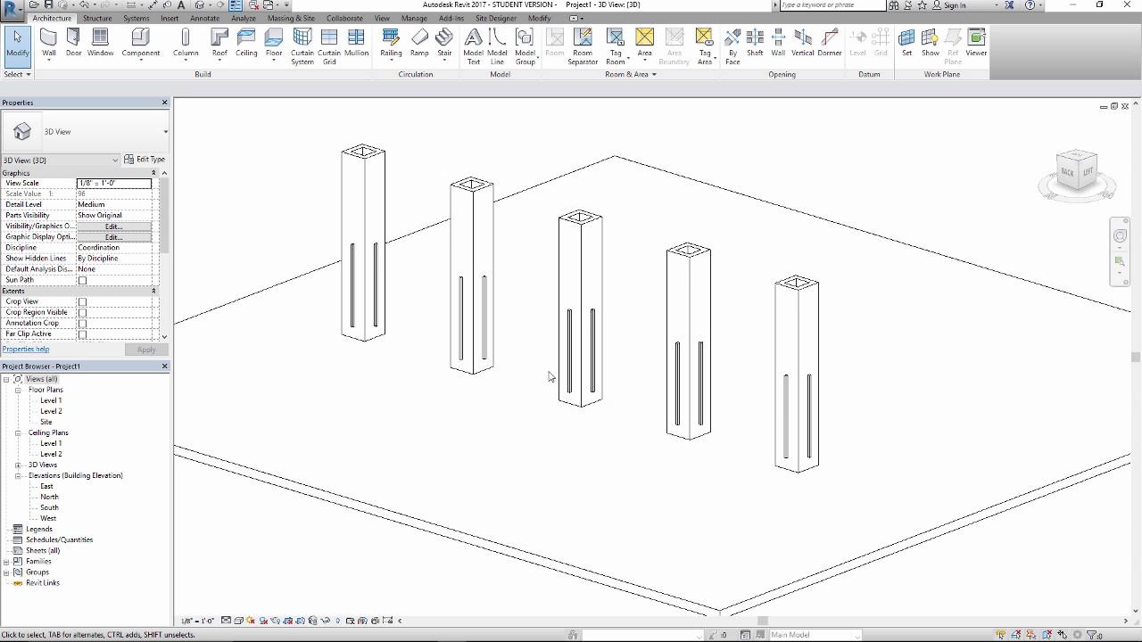 Building a custom vertical linear light in revit