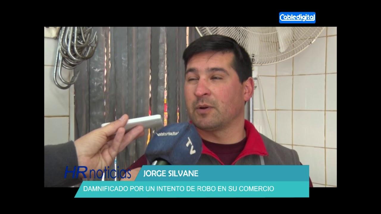 JORGE SILVANE   DAMNIFICADO POR UN INTENTO DE ROBO EN SU COMERCIO