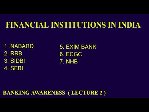 Financial Institution In India | Banking Awareness | Lecture 2 | Bank Po
