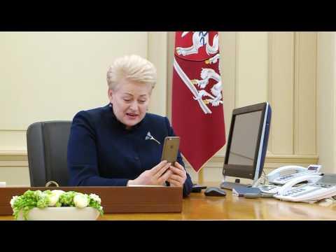 D. Grybauskaitė D. Montvydui: ne visi prisipažįsta, bet žiūrės ir laikys kumščius