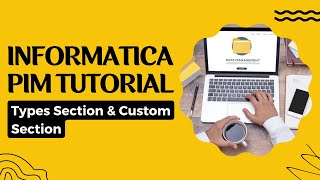 informatica pim types section and custom section   informatica pim online tutorial