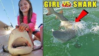 Fishing Lessons: Little GIRL vs SHARK!