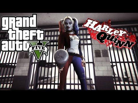 GTA 5 моды - Harley Quinn from DC Legends