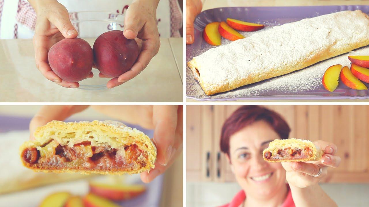 Strudel di pesche ricetta facile peaches strudel cake for Fatto in casa da benedetta 2