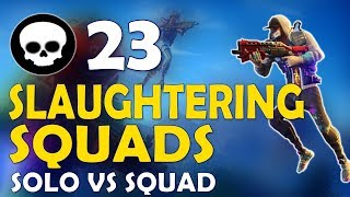 23 KILLS | DAEQUAN SLAUGHTERING SQUADS | FUNNY GAME - (Fortnite Battle Royale)