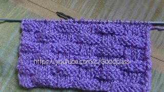 Простой двухсторонний узор Плетенка. Вязание спицами.