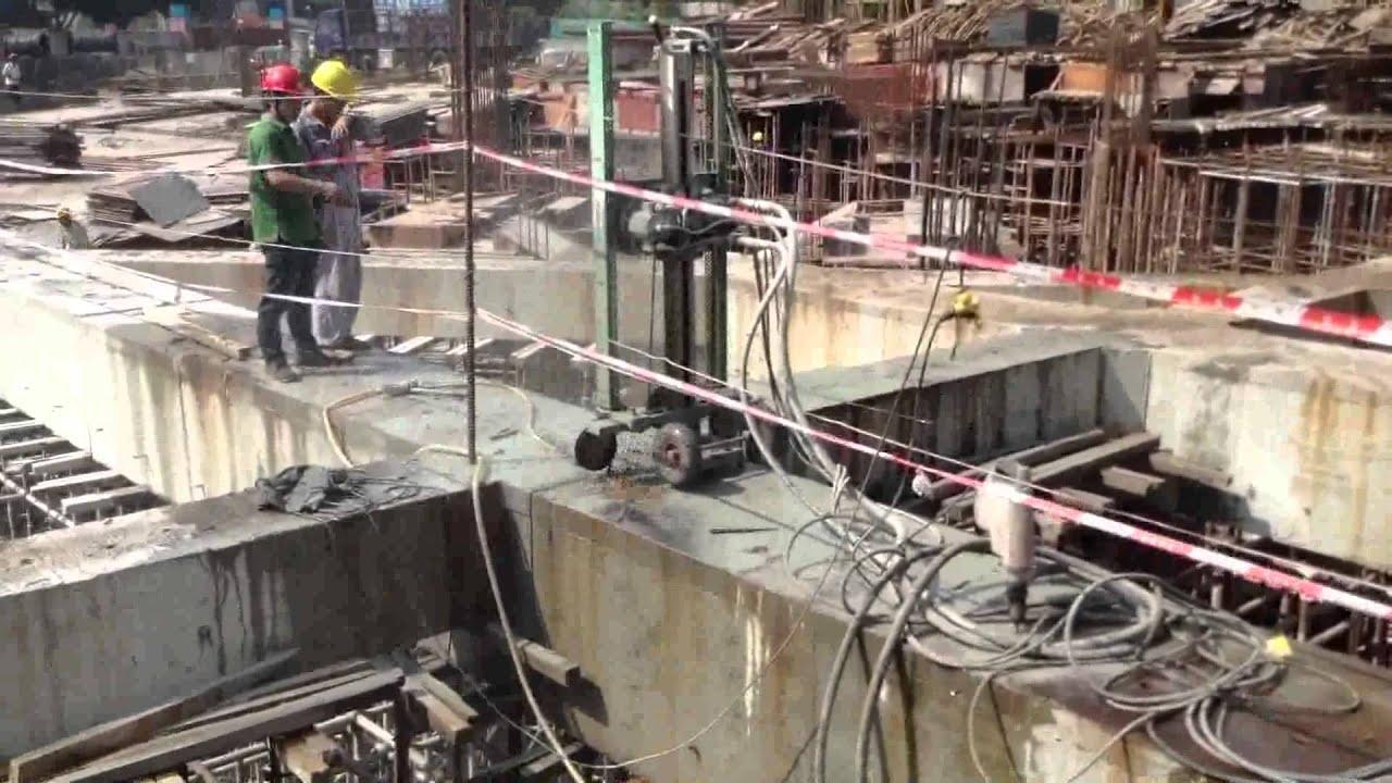 diamond wire saw / hydraulic wire saw - YouTube