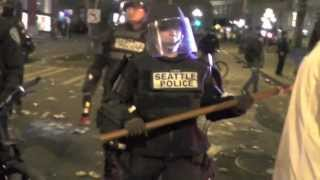 Seahawks Superbowl Riot Pioneer Square