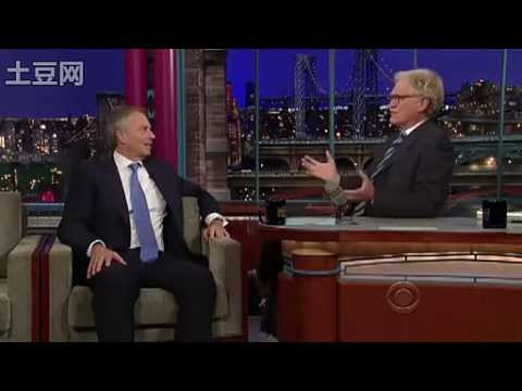 Tony Blair on Letterman 2010.10.05