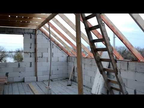 видео: Мансарда,  крыша  запил балки под стропила