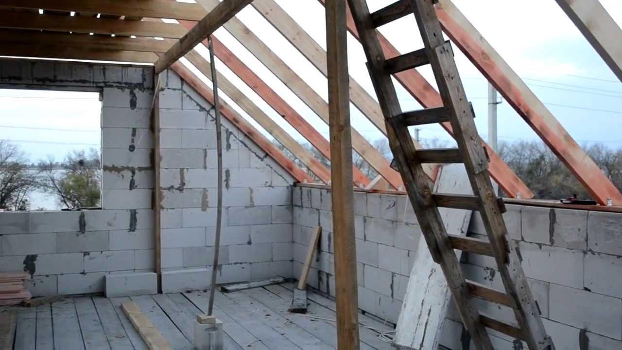Как сделать крышу мансарды видео фото 665