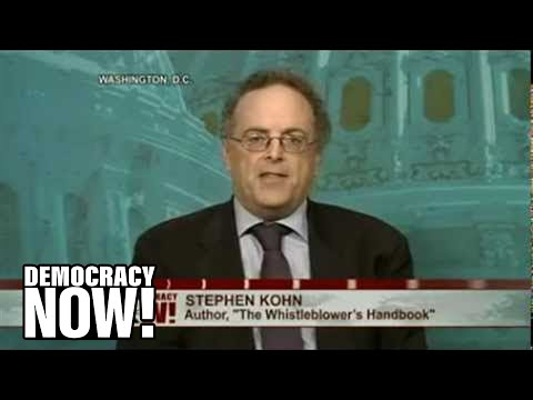 DemocracyNow.org - The IRS has announced a record $104 million reward to a whistleblower who exposed the largest tax evasion scheme in U.S. history. Former UBS AG banker Brad Birkenfeld first reported in 2007 that he and his colleagues had encouraged rich Americans to store more than $20 billion in offshore Swiss bank accounts and cheat the IRS. But after coming forward, Birkenfeld was prosecuted and convicted of conspiracy and sentenced to prison. Following Birkenfeld's release last month, on Tuesday the IRS vindicated his actions with the largest amount ever awarded under its whistleblower program. We're joined by Stephen Kohn, an attorney for Birkenfeld and executive director of the National Whistleblowers Center.