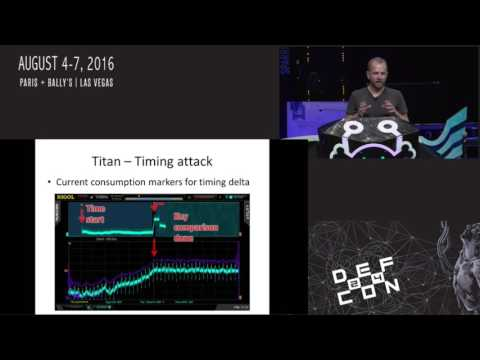 DEF CON 24 - Plore - Side channel attacks on high security electronic safe locks