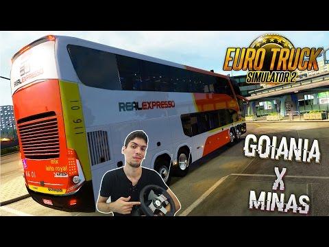 Viajando Pelo Brasil Goiânia x Belo Horizonte Ônibus Euro Truck2 Viação Real Expresso com G27!