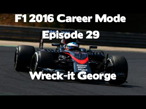 F1 2016 Career Mode Episode 29 - Wreck-It George (100% Austrian Grand Prix)
