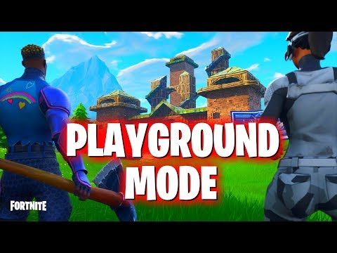 Fortnite Playground Mode Update! 1V1 your Friends (PS4 Pro)