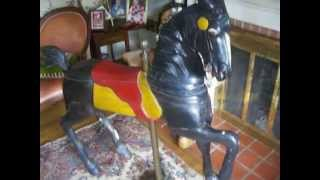 Antique wooden carousel horse For SALE!