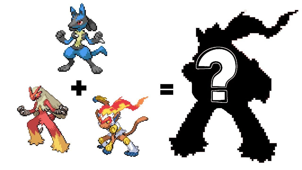 pokemon fusion sprite request 63 blaziken lucario infernape youtube