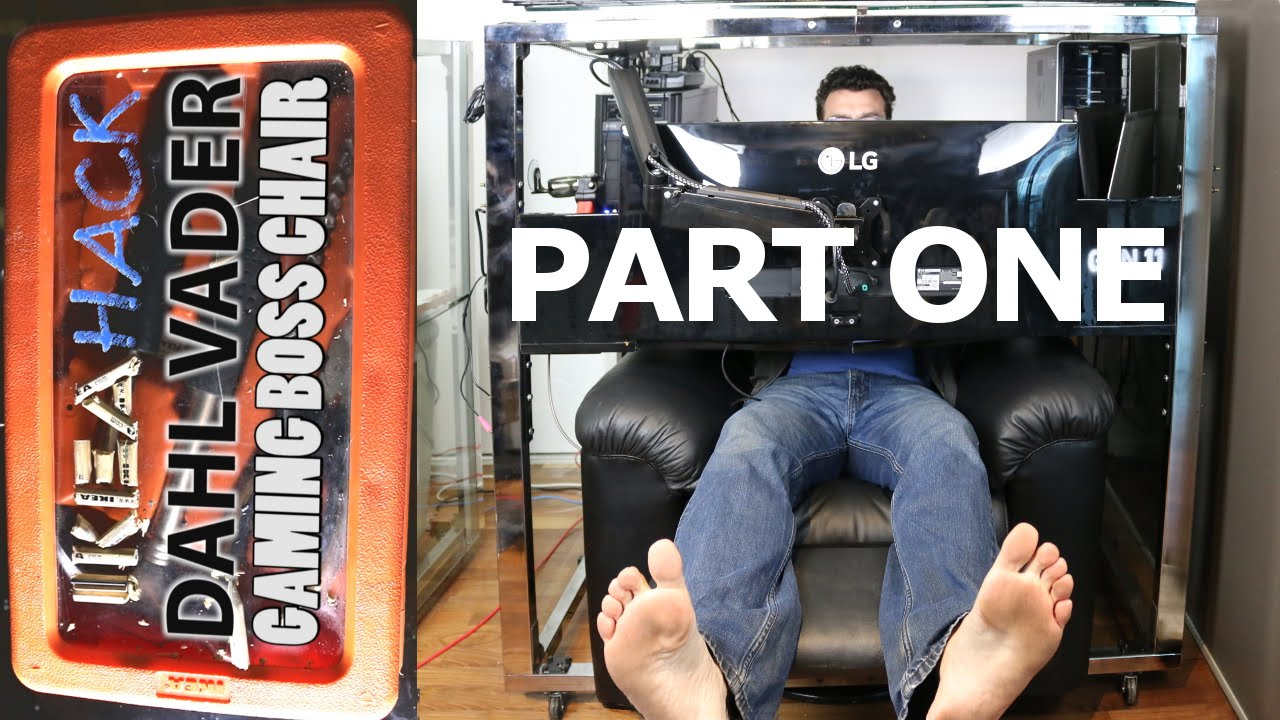 Ikea Hack - DIY Gaming Home Theatre Workstation Boss Chair - PART8