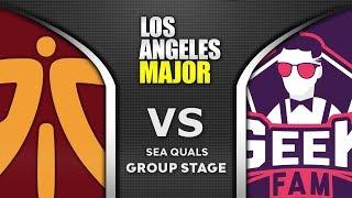 Fnatic vs Geek Fam ESL One Los Angeles Major 2020 SEA Highlights Dota 2