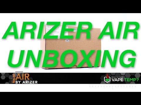 Vaporizer Review: The Arizer Air Unboxing