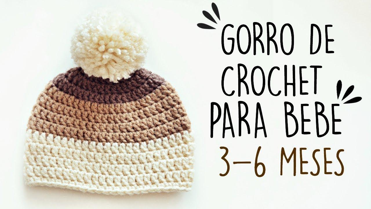 GORRO DE CROCHET PARA BEBE FACIL  c8005c513e7