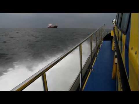 SIMA CHARTERS CALLISTO MAASSLUIS AT HIGH SPEED ON THE NORTH SEA