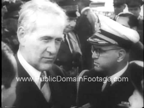 Brazil Bolsters Foreign Relations WWII newsreel archival stock footage  www.PublicDomainFootage.com