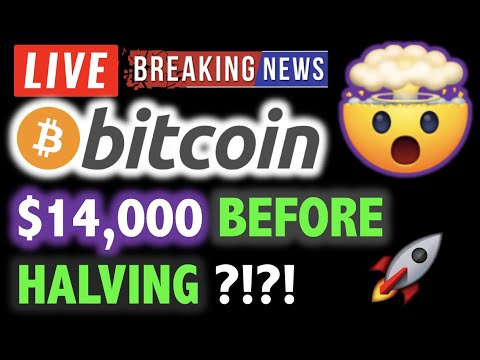BITCOIN TO $14,000 BEFORE HALVING ?!?! 🛑💥 LIVE Crypto Analysis TA & BTC Cryptocurrency Price News