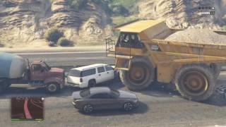 GTA 5 Dump Truck VS Cars