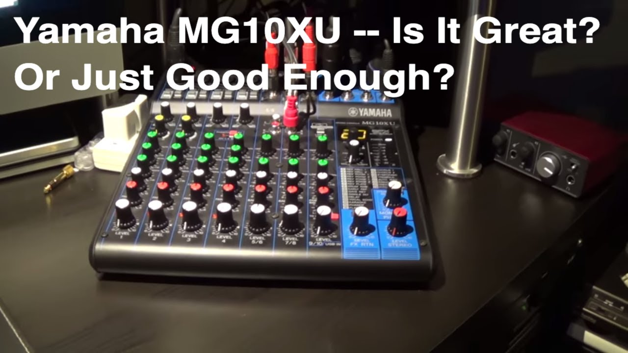 Home Studio Yamaha Mixer Quick Review Youtube