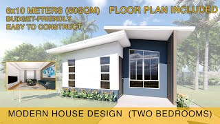 Small House Design Idea 6x10 Meters 60sqm With Two Bedrooms