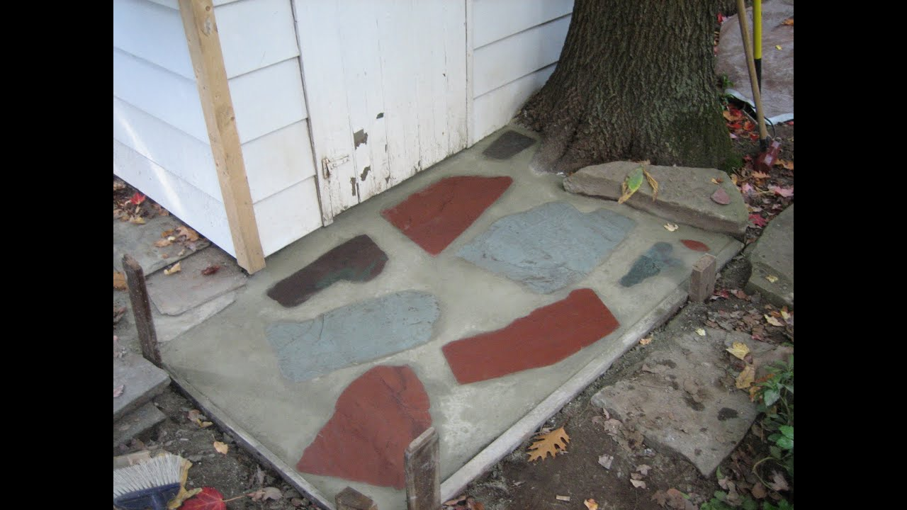 Concrete flagstone walkway step by step instructions youtube for Removing concrete walkway