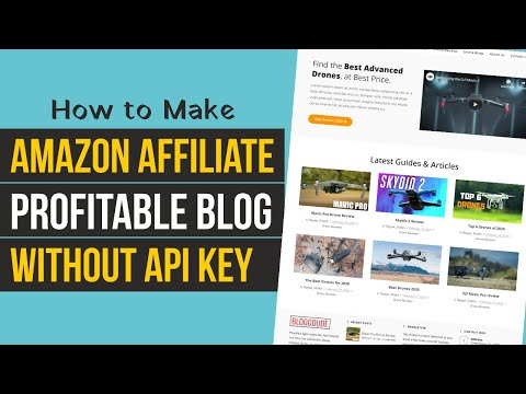 How to Make MONEY MAKING Affiliate Marketing Blog FOR FREE using WordPress - Without Amazon API KEY thumbnail