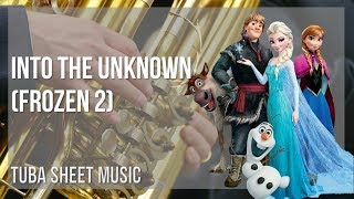 EASY Tuba Sheet Music: How to play Into the Unknown (Frozen 2) by Idina Menzel