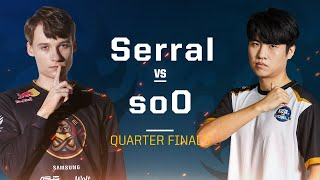 Serral vs soO ZvZ - Quarterfinals - 2019 WCS Global Finals - StarCraft II