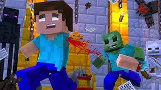 Monster School : Zombie virus Infects the school Plague Inc Part 2 Apocalypse - Minecraft Animation