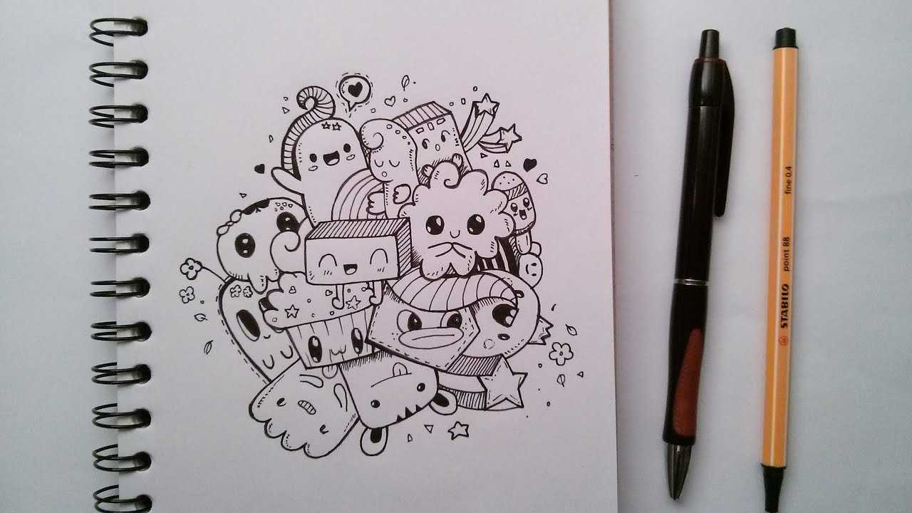 CUTE DOODLE #2 /SPEED DRAWING - YouTube