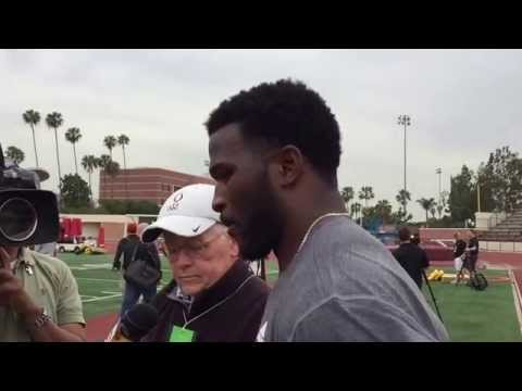 Buck Allen at USC Pro Day 3/11/15