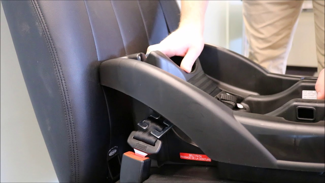 Locking Clip Installation Infant Car Seat Base