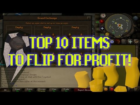 TOP 10 OSRS FLIPPING ITEMS! - MONEY MAKING