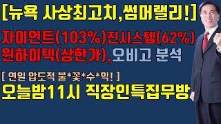 [주식][ 7월 13일 증시전망]뉴용증시사상최고치/초보…