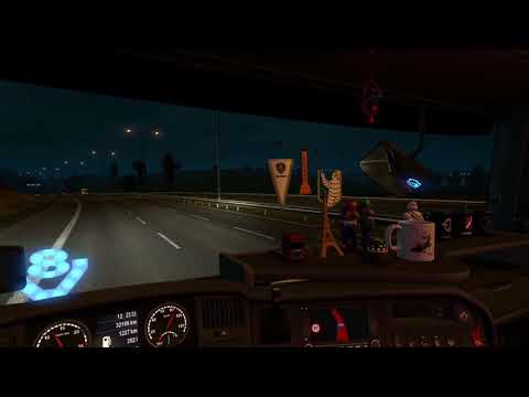 ETS2 Scania R730 Dover to Birmingham - Industrial cable reel 34T