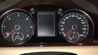 how to reset oil change and service inspection reminder pop up in a volkswagen passat b7 2013