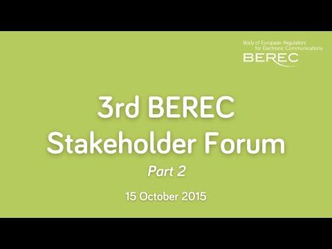 3rd BEREC Stakeholder Forum;Draft BEREC Work Programme 2016