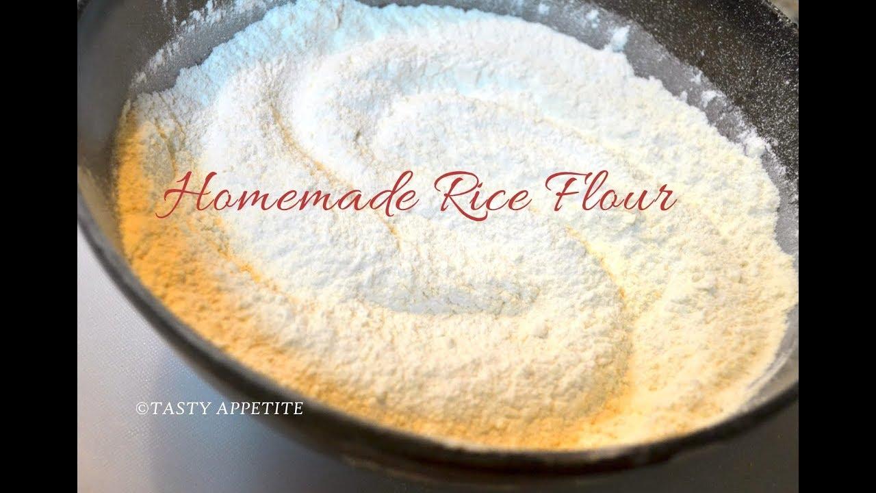 How to make rice flour at home?  Chawal Ka Aata  Homemade Rice Flour easy  recipe